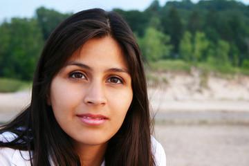 Attractive Young Woman Outdoor Portraita
