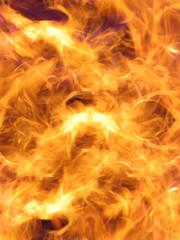 Wild fire flames