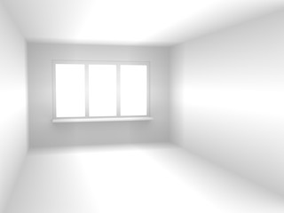 Abstract 3d room of white color