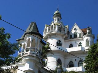 Maison blanche, Santa Teresa, Rio, Brésil.