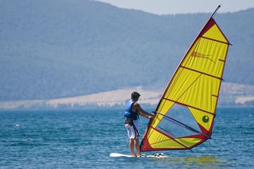 Windsurfer, Bracciano Lake, Italy
