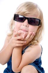 Sweet girl in sunglasses