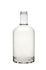 Transoarent glass bottle