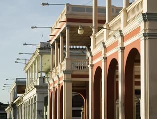 Detail of Spanish Colonial Buildings in Granada Nicaragua