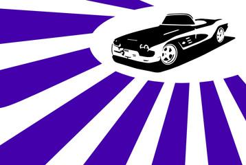 Vector Grafic Sports Cabrio driving down the road