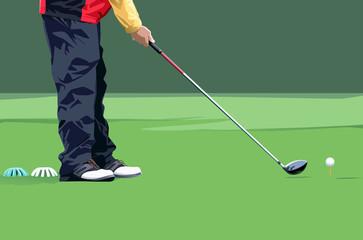 sports game, golf.