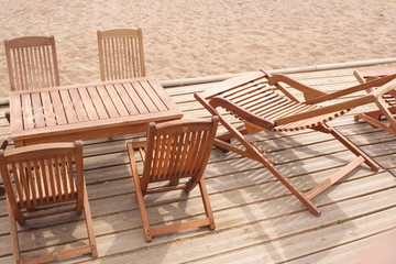 Chaises inclinables
