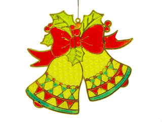 Old Christmas Decoration isolated with clipping path