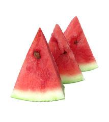 Sweet juicy watermelon isolated on white background