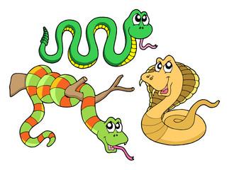 Foto auf Leinwand Kreaturen Cute snakes collection