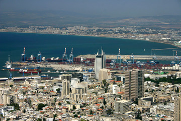 harbor city shore overview industry haifa