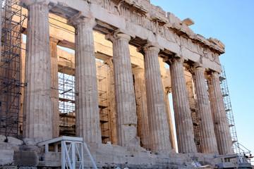 details of Parthenon, Acropolis in Athens – Greece