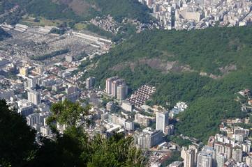 Rio de Janeiro vue d'en haut, Brésil