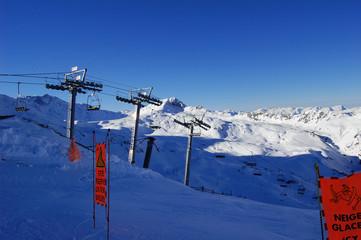 piste de ski non balisée