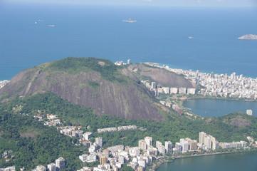 Baie et collines de Rio