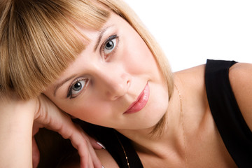closeup portrait of lovely girl