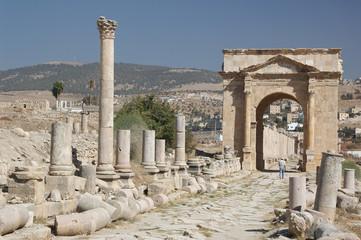 Jerash the roman old city in Jordan