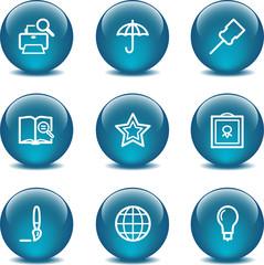 Glass ball web icons, set 9
