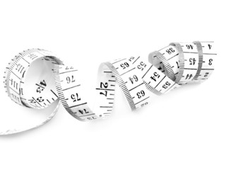 Tape measures isolated on white