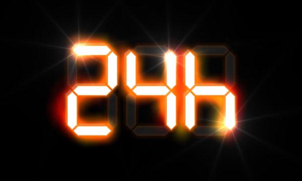 24 Stunden - Abkürzung - LCD