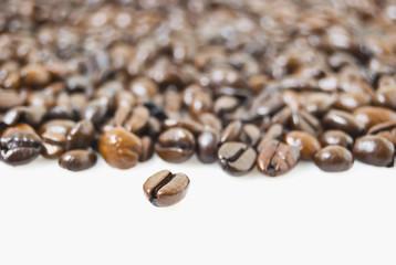 Closeup shot of coffee beans