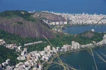 Vue de la baie de Rio; Brésil.