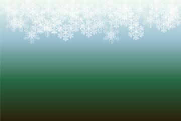 Hintergrund mit Schneeflocken am oberen Rand