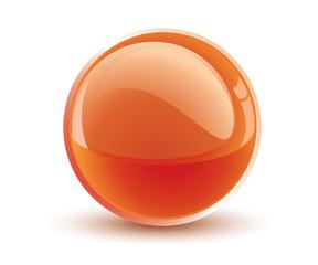 3d vector orange sphere