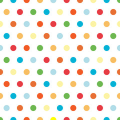 Polka Dots background pattern in bright colors