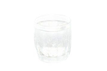 A cold water glass isolated on white.