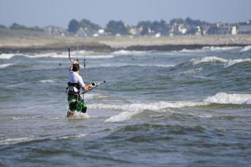 Kite surfeur en bretagne