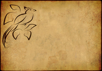 Background in style of an ancient Japanese engraving
