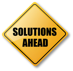 Solutions Ahead Road Sign
