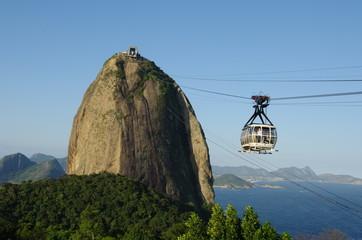 Pain de Sucre, cabine de téléphérique, Brésil, Rio.