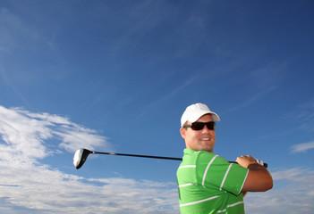 Golfspieler in der Sonne