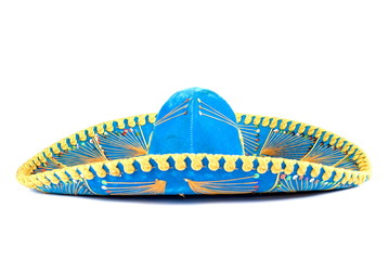 Mexican Mariachi hat on white background .