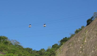 Téléphérique du Pain de Sucre, Rio de Janeiro, Brésil.