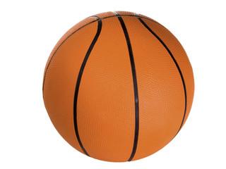 Basketball freigestellt auf weissem Hintergrund