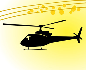 Vector Helikopter Sonne