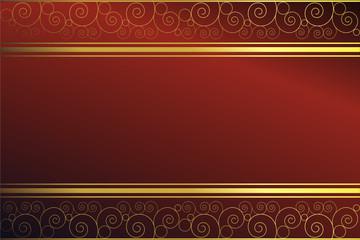 Roter Hintergrund mit goldenen Elementen