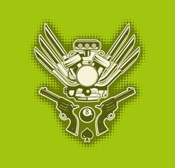 Vector green stylish wallpaper