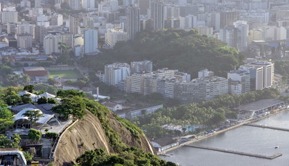Vue aérienne de Rio de Janeiro, Brésil.