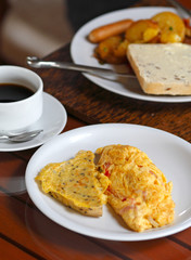 Breakfast set with omelet