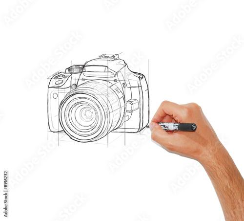dessin d 39 un appareil photo r flexe photo libre de droits sur la banque d 39 images. Black Bedroom Furniture Sets. Home Design Ideas