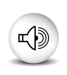 Sound Icon - white