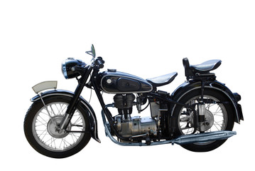 oldtimer motorcycle isolated