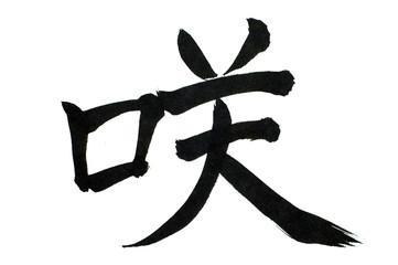 japanese letter isolated on white bacground