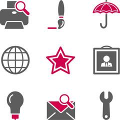 Color web icons, set 9