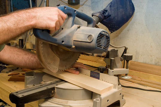 Somebody about to get their thumb cut off from a power saw