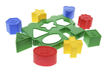Shape Sorter Toy on White Background
